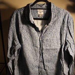 Men's Old Navy Print Denim Shirt